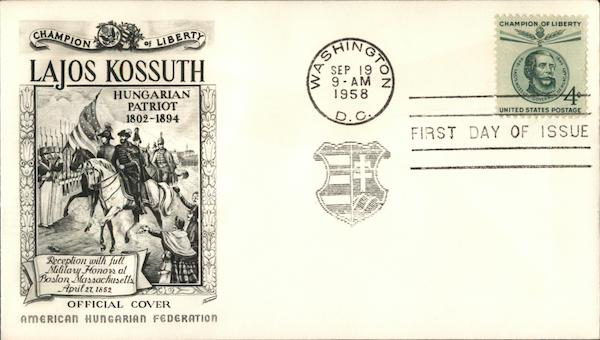 Lajos Kossuth First Day Covers