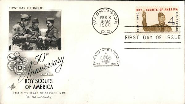 50th Anniversary Boy Scouts of America 1910 Fifty Years of Service 1960 For God and Country
