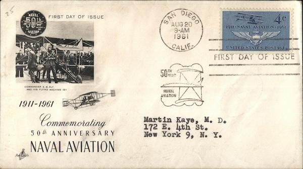 Commemorating 50th Anniversary Naval Aviation First Day Covers