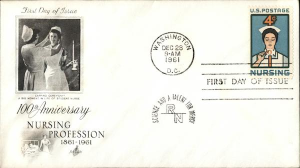 100th Anniversary Nursing Profession 1861-1961 First Day Covers