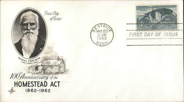 100th Anniversary of the Homestead Act 1862-1962 First Day Covers