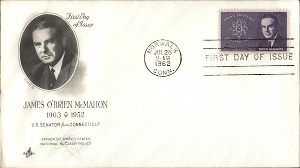 James O'Brien McMahon 1903-1952 First Day Covers