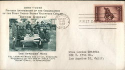 "1896 - 1948 Fiftieth Anniversary of the ""Rough Riders"" First Day Cover"