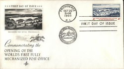 Commemorating the Opening of the World's First Fully Mechanized Post Office First Day Cover