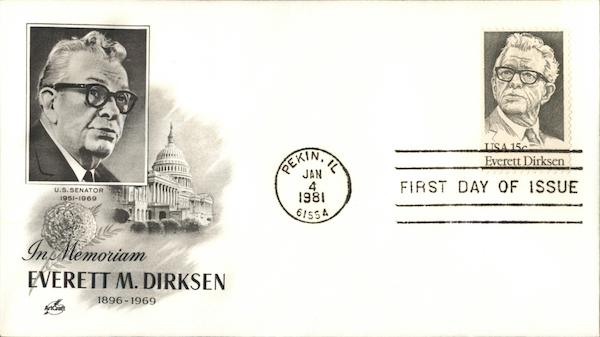 In Memory of Everett M. Dirksen First Day Covers