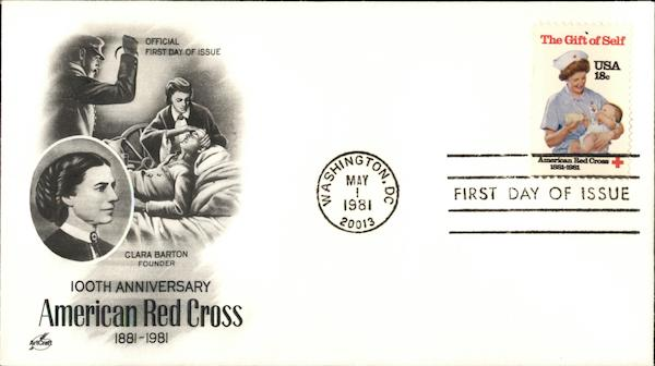 100th Anniversary American Red Cross 1881-1981 First Day Covers