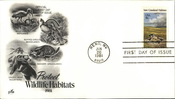 Protect Wild Habitats - 1981 First Day Covers