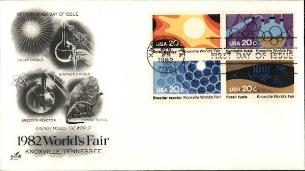 1982 World's Fair Knoxville, Tennessee First Day Covers