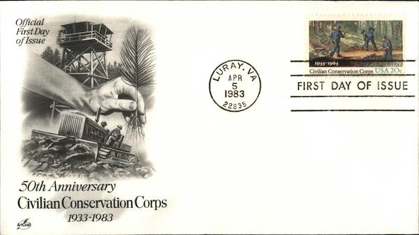 50th Anniversary Civilian Conservation Corps First Day Covers