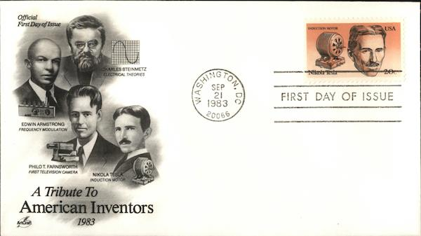 A Tribute to American Inventors 1983 First Day Covers