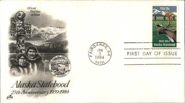 Alaska Statehood 25th Anniversary 1959-1984 First Day Covers