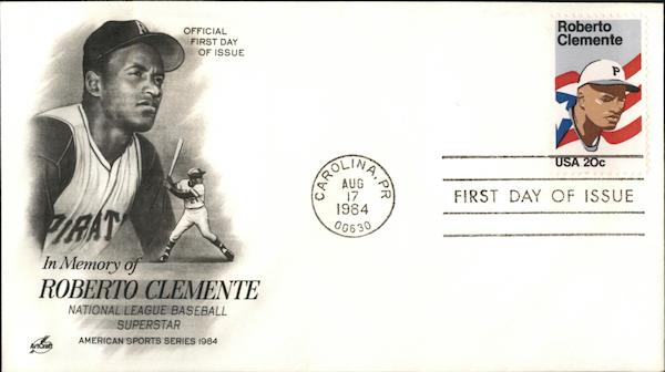 In memory of Roberto Clemente National League Baseball Superstar American Sports Series 1984
