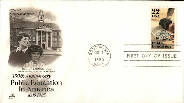 350th Anniversary of Public Education in America First Day Covers