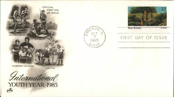 International Youth Year, 1985 First Day Covers