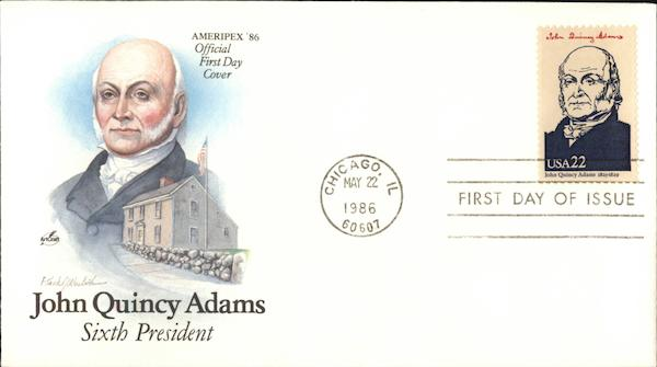 John Quincy Adams - Sixth President First Day Covers