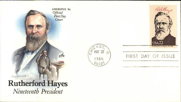 Rutherford Hayes Nineteenth President First Day Covers