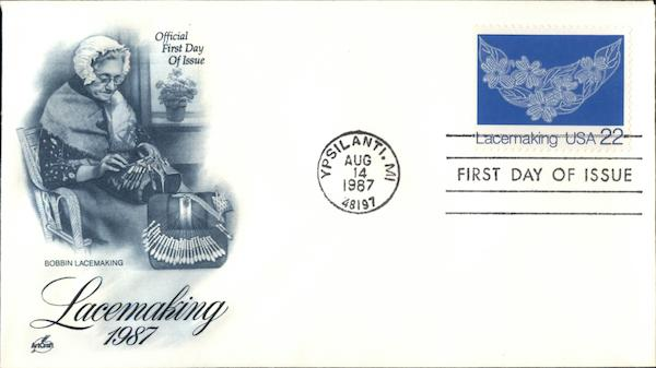 Lacemaking 1987 First Day Covers