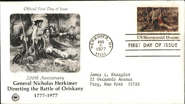 200th Anniversary General Nicholas Herkimer First Day Covers