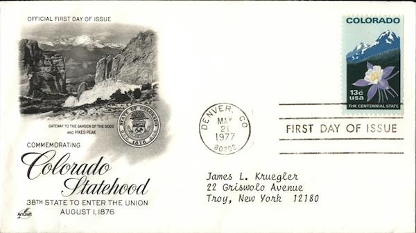 Commemorating Colorado Statehood First Day Covers