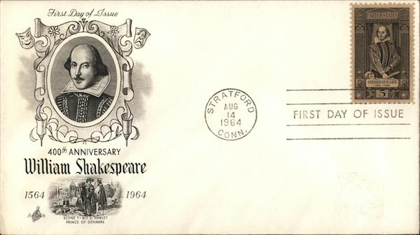 400th Anniversary William Shakespeare 1564-1964 First Day Covers