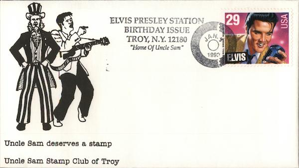 Elvis Presley Station Birthday Issue - Troy, N.Y. 12180 Home of Uncle Sam