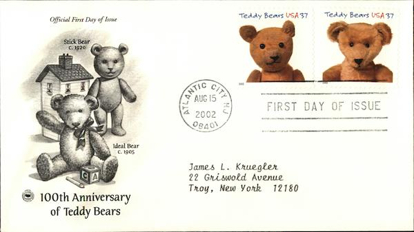 100th Anniversary of Teddy Bears First Day Covers
