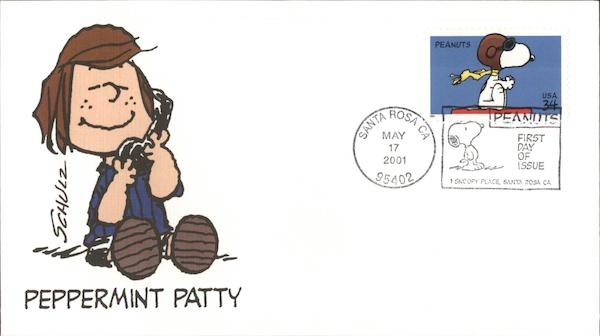 Peanuts - Peppermint Patty Charles Schulz First Day Covers