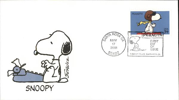 Peanuts Snoopy Charles Schulz First Day Covers