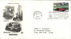 Greetings from America - Indiana First Day Cover