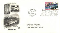 Greetings from Missouri First Day Cover