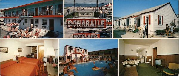 Donaraile Motel Apartments North Wildwood NJ Postcard