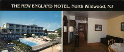 New England Motel Large Format Postcard