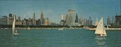 Chicago Skyline Large Format Postcard