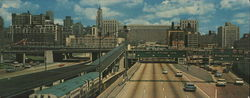 Looking East on the Congress Street Expressway Large Format Postcard