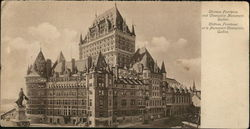 Chateau Frontenac and Champlain Monument