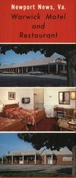 Warwick Motel and Restaurant Large Format Postcard