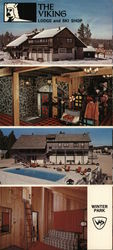 Viking Lodge and Ski Shop Large Format Postcard