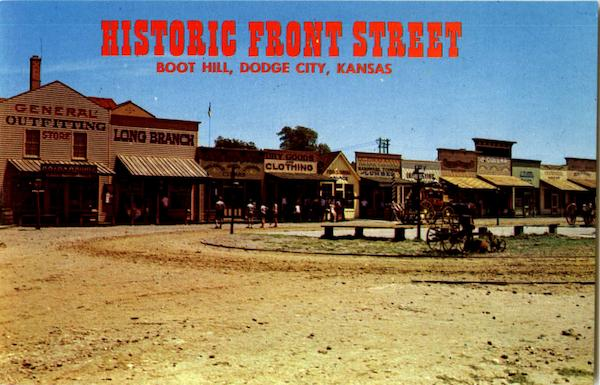 Historic Front Street Boot Hill Dodge City Ks