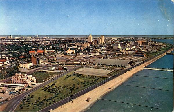 Aerial View Of Downtown Corpus Christi Texas