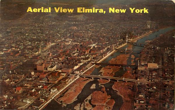 Aerial View Elmira New York