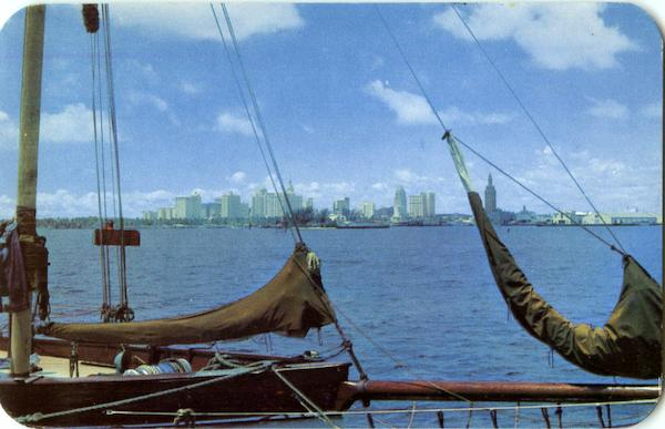 Skyline Of Miami Florida