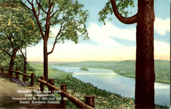 Beautiful Ohio River View From Leavenworth Evansville Indiana