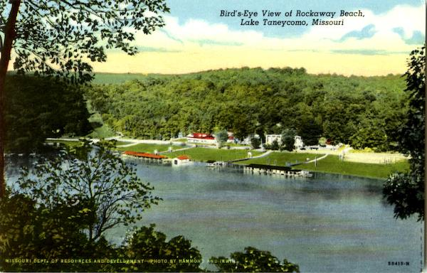 Bird's - Eye View Of Rockaway Beach Taneycomo Missouri