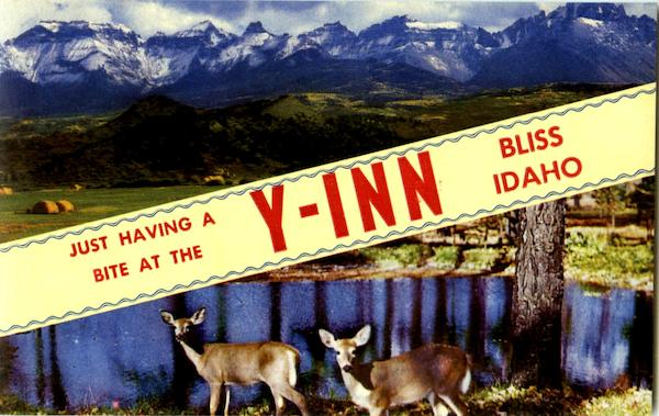 Just Having A Bite At The Y-Inn Bliss Idaho