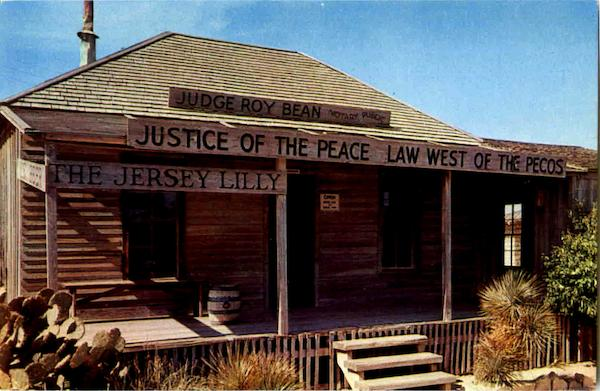 Judge Roy Bean's Court House Langtry Texas
