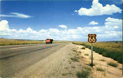 Route 66 through northern Arizona