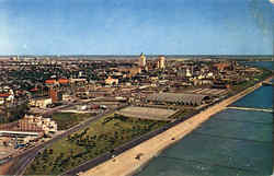 Aerial View Of Downtown Corpus Christi