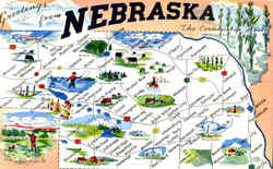 Greetings From Nebraska The Cornhusker State