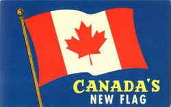 Canada's New Flag Postcard