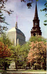John Hancock Building and Arlington Street Church Postcard